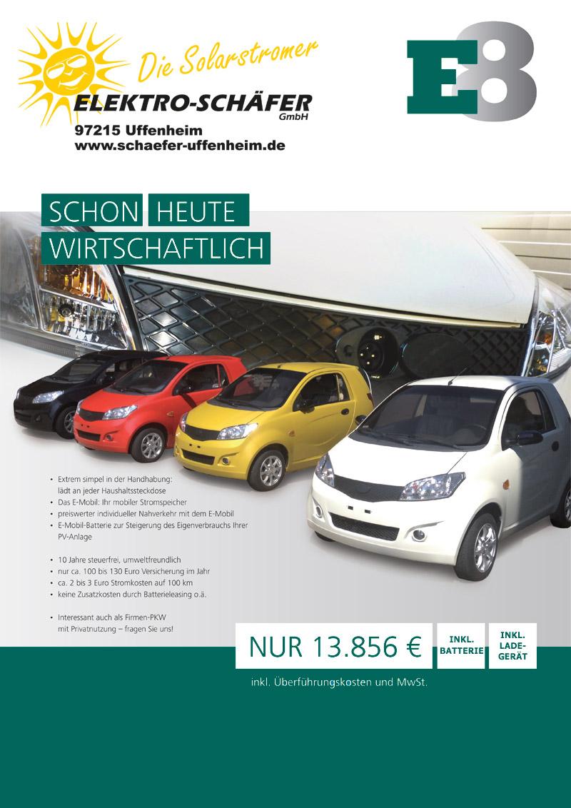 Elektromobilität Ansbach E8 Elektro Schäfer Uffenheim